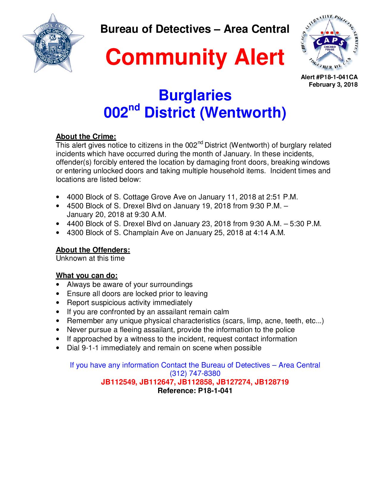 03 Feb 18-Community Alert-2nd District Burglaries P18-1-041-page-001
