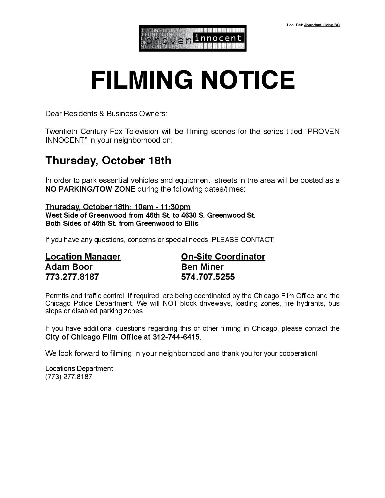 Abundance Living BC PI Filming Notice (10.18.18) -page-001