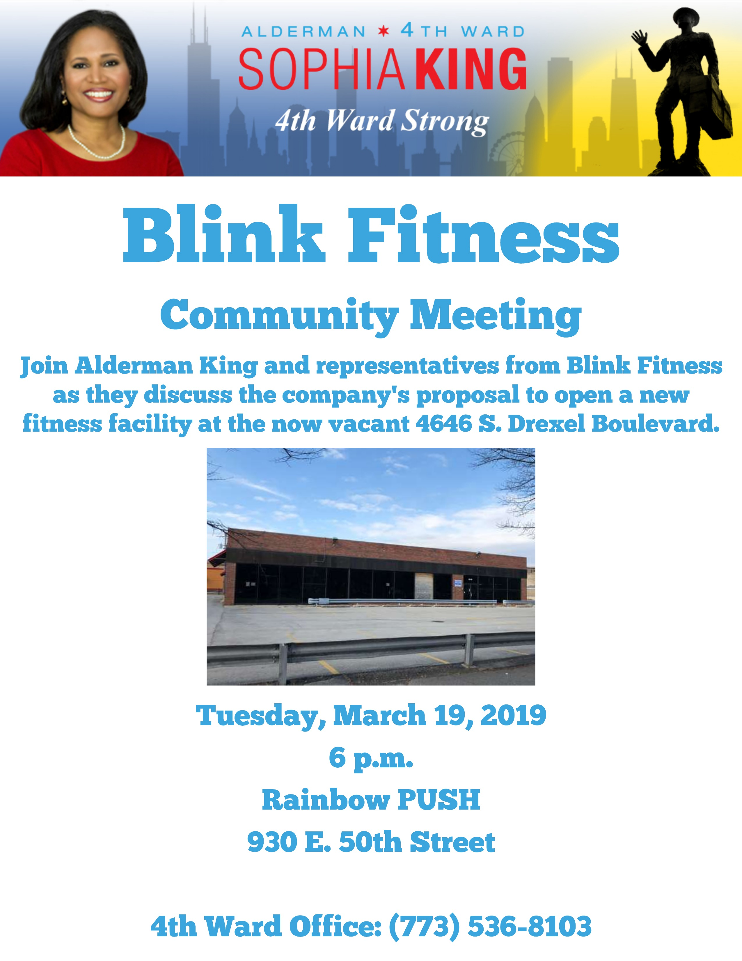 Blink Fitness Meeting, March 19